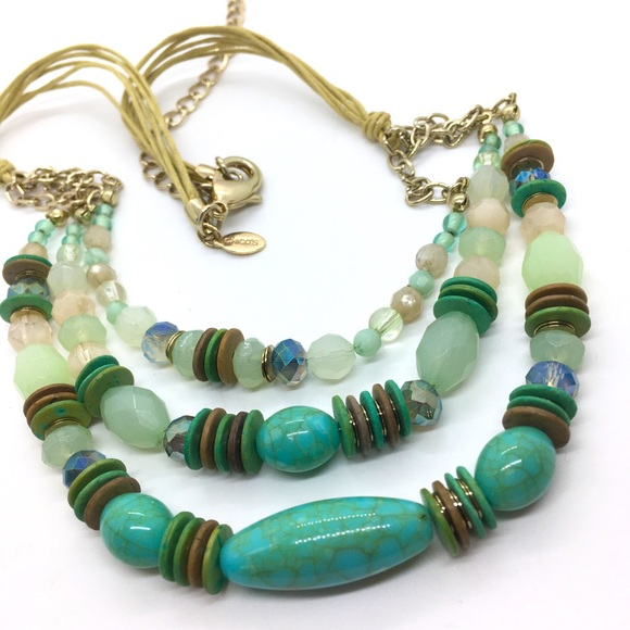CHICO'S Turqoise Green Necklace